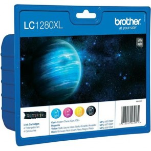 LC1280XLBCMY Tintapatron multipack MFC J6910DW, BROTHER b+c+m+y, 1*2400 o., 3*1200 o.