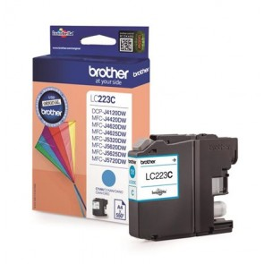 LC223C Tintapatron MFC-J4420DW, MFC-J4620DW nyomtatókhoz, BROTHER, cián, 550 oldal
