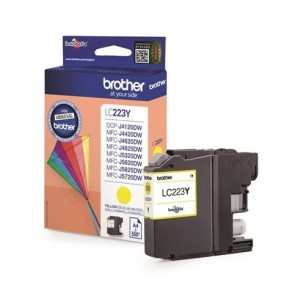 LC223Y Tintapatron MFC-J4420DW, MFC-J4620DW nyomtatókhoz, BROTHER, sárga, 550 oldal