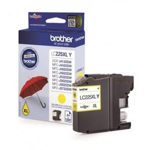 LC225XLY Tintapatron MFC-J4420DW, MFC-J4620DW nyomtatókhoz, BROTHER, sárga, 1200 oldal