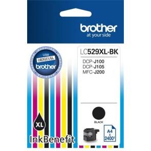 LC529XLB Tintapatron DCP-J100, J105 nyomtatóhoz, BROTHER, fekete, 2400 oldal