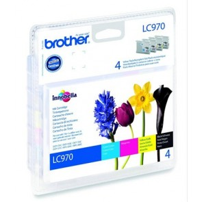 LC970BCMY Tintapatron multipack DCP 135C, BROTHER b+c+m+y, 1*350 oldal, 3*300 oldal