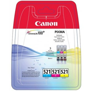 CLI-521KIT Tintapatron multipack Pixma iP3600, 4600 nyomtatókhoz, CANON, c+m+y, 3*9ml