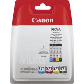 CLI-571KIT Tintapatron multipack Pixma MG 5700, 6800, 7700 nyomtatókhoz, CANON, b+c+m+y, 4*7ml