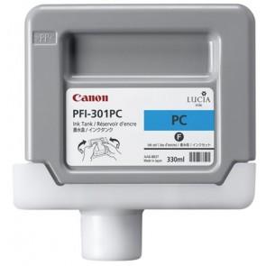 PFI-301PC Fotópatron iPF8000S, 9000S nyomtatókhoz, CANON ciánkék, 330ml