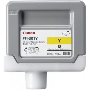 PFI-301Y Tintapatron iPF8000S, 9000S nyomtatóhoz, CANON sárga, 330ml