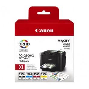 PGI-2500XLKIT Tintapatron multipack Maxify MB5350 nyomtatóhoz, CANON b+c+m+y, 70,9ml+3*19,3ml