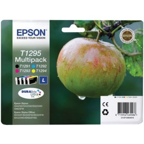 T12954010 Tintapatron multipack Stylus SX420W nyomtatóhoz, EPSON b+c+m+y, 32,2ml