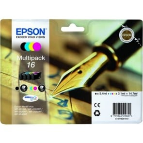 T16264010 Tintapatron multipack Workforce WF2540WF nyomtatóhoz, EPSON b+c+m+y, 14,7ml