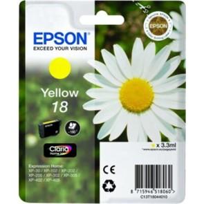 T18044010 Tintapatron XP 30, 102, 202, 205 nyomtatókhoz, EPSON, sárga, 3,3ml