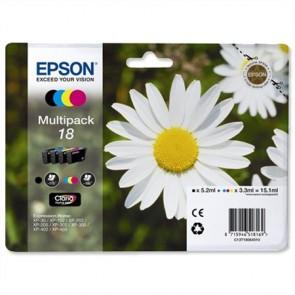 T18064010 Tintapatron mutipack XP 30, 102, 202, 205 nyomtatókhoz, EPSON b+c+m+y, 15,1ml