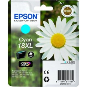 T18124010 Tintapatron XP 30, 102, 202, 205 nyomtatókhoz, EPSON, cián, 6,6ml