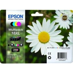 T18164010 Tintapatron multipack XP 30, 102, 202, 205 nyomtatókhoz, EPSON b+c+m+y, 31,3ml