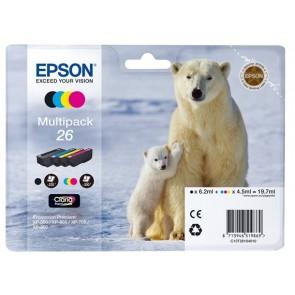T26164010 Tintapatron multipack XP 600, 700, 800 nyomtatókhoz, EPSON b+c+m+y, 19,7ml