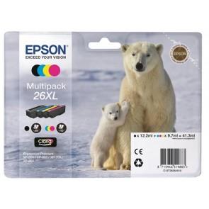 T26364010 Tintapatron multipack XP 600, 700, 800 nyomtatókhoz, EPSON b+c+m+y, 41,3ml