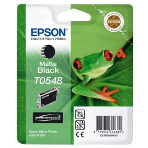 T05484010 Tintapatron StylusPhoto R800 nyomtatóhoz, EPSON, matt fekete, 13ml