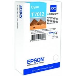 T70124010 Tintapatron Workforce Pro 4000, 4500 sorozat nyomtatókhoz, EPSON, cián, 34,2 ml