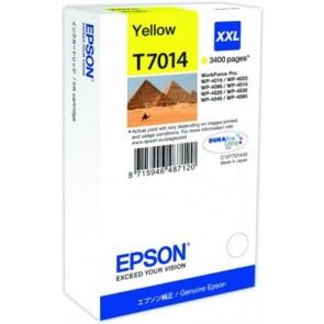 T70144010 Tintapatron Workforce Pro 4000, 4500 sorozat nyomtatókhoz, EPSON, sárga, 34,2 ml