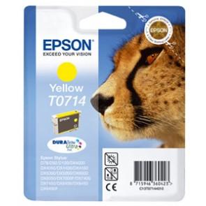 T07144011 Tintapatron Stylus D78, D92, D120 nyomtatókhoz, EPSON sárga, 5,5ml