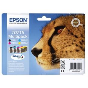 T07154010 Tintapatron multipack Stylus D78, D92, D120 nyomtatókhoz, EPSON b+c+m+y, 23,9ml