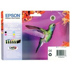 T08074011 Tintapatron multipack StylusPhoto R265 nyomtatóhoz, EPSON, b+c+m+y+pc+pm, 44,4ml
