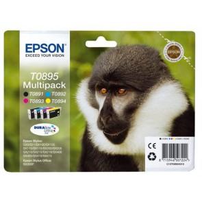 T08954010 Tintapatron multipack Stylus S20 nyomtatóhoz, EPSON b+c+m+y, 1*5,8ml, 3*3,5ml