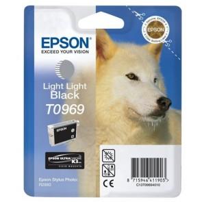 T09694010 Tintapatron StylusPhoto R2880 nyomtatóhoz, EPSON, világos világos fekete, 11,4ml