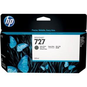 C1Q12A Tintapatron DesignJet T1500, T2500, T920, T930 nyomtatókhoz, HP 727 matt fekete, 300ml