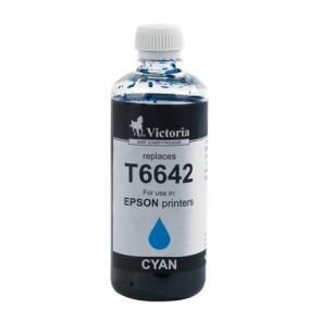 T66424 Tinta, L100, 200mfp nyomtatókhoz, VICTORIA kék, 100ml