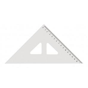 Háromszög vonalzó, műanyag, 45 °, KOH-I-NOOR