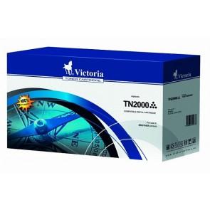 TN2000 Lézertoner HL 2030, 2040, 2070 nyomtatókhoz, VICTORIA fekete, 2,5k