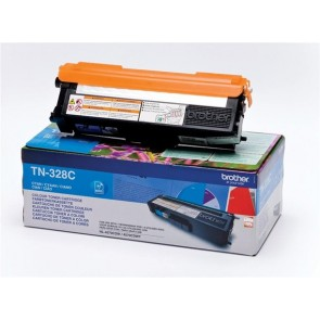 TN328C Lézertoner HL 4570CDW, 4570CDWT nyomtatókhoz, BROTHER, cián, 6k
