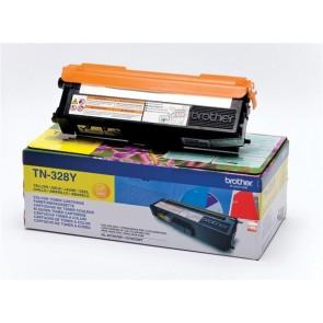 TN328Y Lézertoner HL 4570CDW, 4570CDWT nyomtatókhoz, BROTHER, sárga, 6k