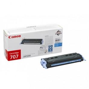 CRG-707C Lézertoner i-SENSYS LBP 5000, 5100 nyomtatókhoz, CANON, cián, 2,5k