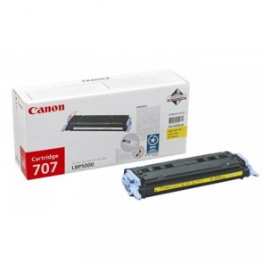 CRG-707Y Lézertoner i-SENSYS LBP 5000, 5100 nyomtatókhoz, CANON, sárga, 2,5k