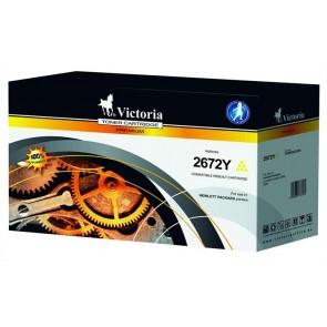Q2672A Lézertoner ColorLaserJet 3500, 3550 nyomtatókhoz, VICTORIA 309A sárga, 4k