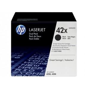 Q5942XD Lézertoner LaserJet 4250, 4350 nyomtatókhoz, HP fekete, 2*20k