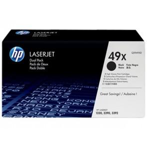 Q5949XD Lézertoner LaserJet 1320, 3390, 3392 nyomtatókhoz, HP fekete, 2*6k