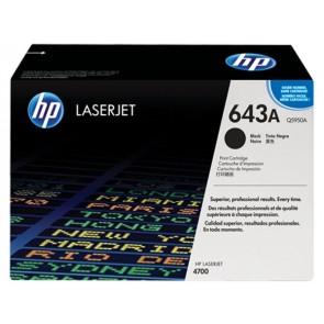 Q5950A Lézertoner ColorLaserJet 4700 nyomtatóhoz, HP 643A fekete, 11k