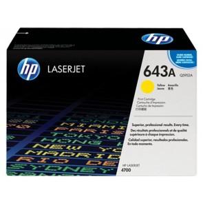 Q5952A Lézertoner ColorLaserJet 4700 nyomtatóhoz, HP 643A sárga, 10k