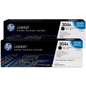 CC530AD Lézertoner ColorLaserJet CM2320fxi, 2320n nyomtatókhoz, HP 304A, fekete, 2*3,5k