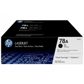CE278AD Lézertoner LaserJet P1566, P1606 nyomtatókhoz, HP 78A, fekete, 2*2,1k