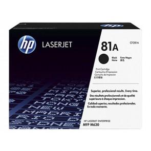 CF281A Lézertoner LaserJet Enterprise M604n, MFP M630f nyomtatókhoz, HP 81A, fekete, 10,5k