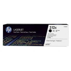 CF380XD Lézertoner LaserJet Pro M476 nyomtatóhoz, HP 312X fekete,  2*4,4k