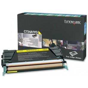 734A1YG Lézertoner C734, 736 nyomtatókhoz, LEXMARK sárga, 6k (return)