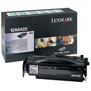 12A8425 Lézertoner Optra T430 nyomtatóhoz, LEXMARK fekete, 12k (return)