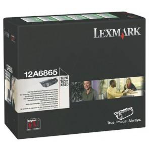 12A6865 Lézertoner Optra T620, 622 nyomtatókhoz, LEXMARK fekete, 30k (return)