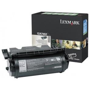 12A7462 Lézertoner Optra T630, 632, 634 nyomtatókhoz, LEXMARK fekete, 21k (return)