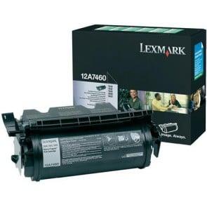 12A7460 Lézertoner Optra T630, 632, 634 nyomtatókhoz, LEXMARK fekete, 5k (return)