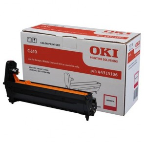 44315106 Dobegység C610 nyomtatóhoz, OKI vörös, 20k